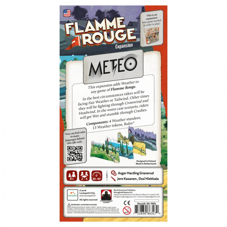 Flamme Rouge Meteo Board Game